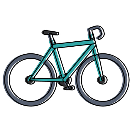 Bicycle race isolated icon vector illustration design.