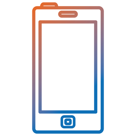 Smartphone device isolated icon vector illustration design.