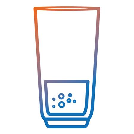 ジュースアイコンベクターイラストデザインのガラス。