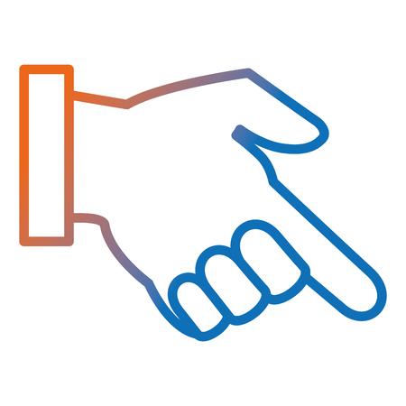Hand human index icon vector illustration design. Stockfoto - 96388793