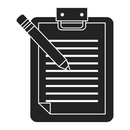 Checklist clipboard with pencil. Vector illustration design.