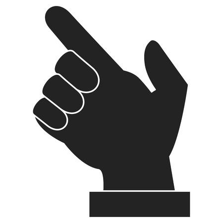 Hand human index icon. Vector illustration design.
