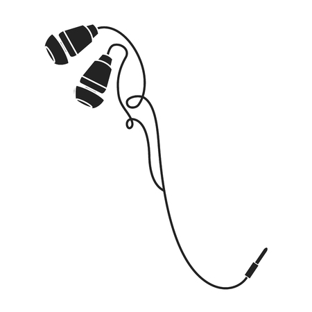 Earphones audio, isolated icon vector illustration design. Illustration