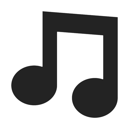 music note isolated icon vector illustration design 写真素材 - 96534469