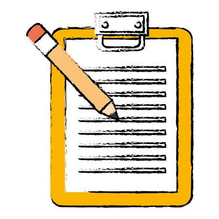 checklist clipboard with pencil vector illustration design