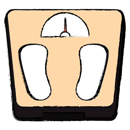 scale weight measure icon vector illustration design Banco de Imagens
