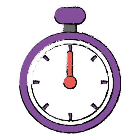 Chronomètre chronomètre isolé icône illustration vectorielle conception Banque d'images - 96334947