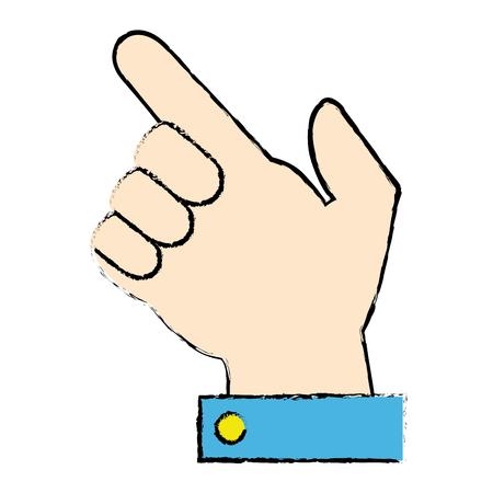 hand human index icon vector illustration design Stockfoto - 96334962