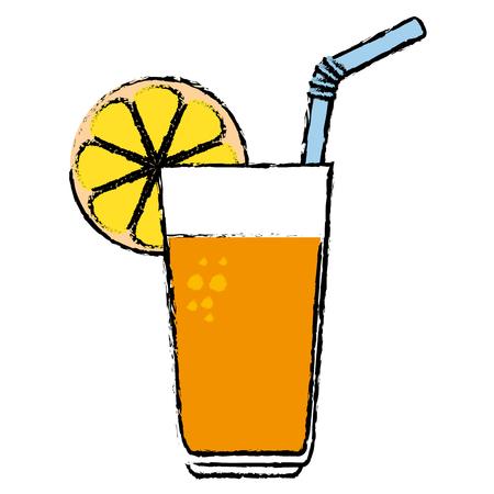 orange juice fruit icon vector illustration design Stock Photo
