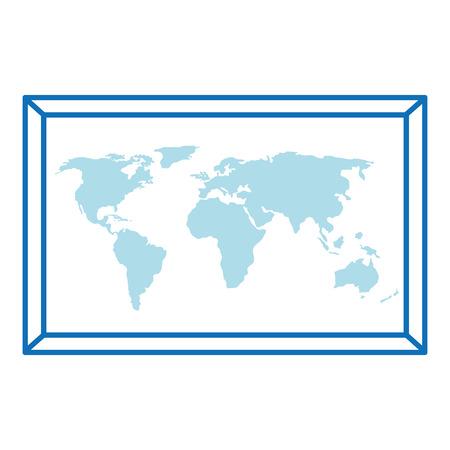 world paper map icon vector illustration design