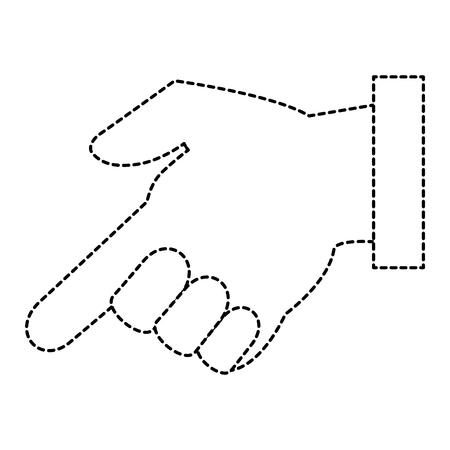 Diseño del ejemplo del vector del icono del índice humano de la mano