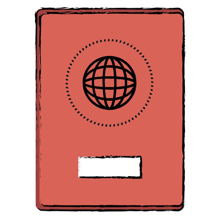 passport document isolated icon vector illustration design 스톡 콘텐츠 - 96312132