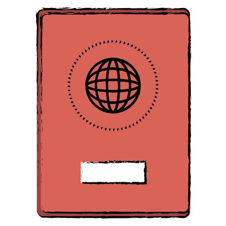 Progettazione dell'illustrazione di vettore dell'icona isolata documento del passaporto Archivio Fotografico - 96312132