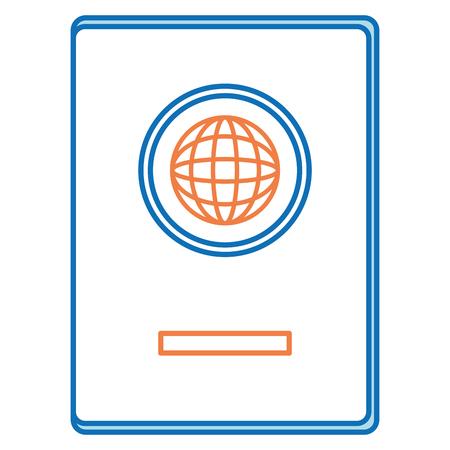 Documento de pasaporte aislado icono de ilustración vectorial de diseño Foto de archivo - 96310876