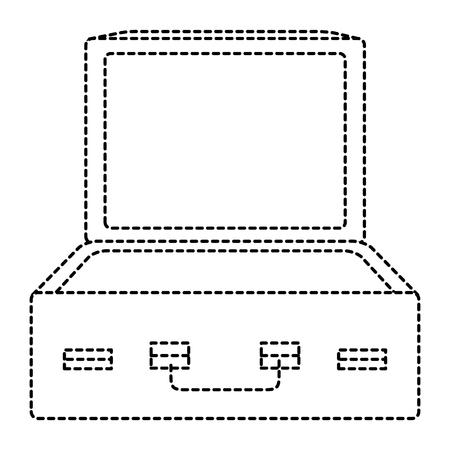 A travel suitcase open icon vector illustration design