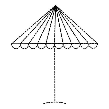 A beach umbrella isolated icon vector illustration design Ilustração