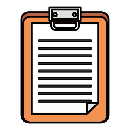checklist clipboard isolated icon vector illustration design Illustration