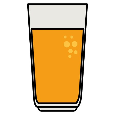 glass with juice icon vector illustration design