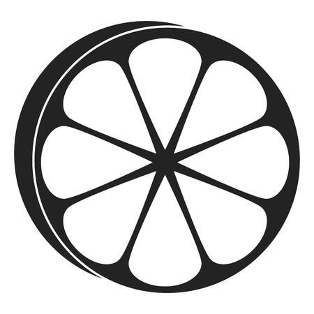 half orange citrus fruit icon vector illustration design