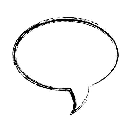 speech bubble message icon vector illustration design Vettoriali