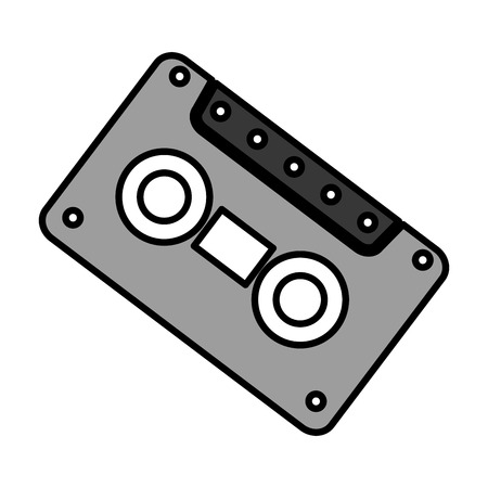 old cassette isolated icon vector illustration design