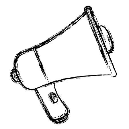 Megaphone sound isolated icon vector illustration design Illustration