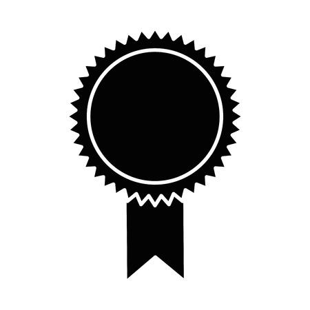 シールディプロマ隔離アイコンベクトルデザイン