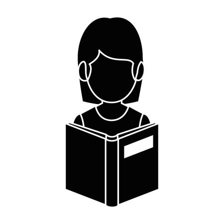 A teacher woman with textbook avatar vector illustration design Illustration