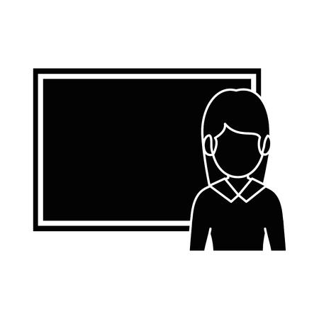 A teacher woman with chalkboard avatar vector illustration design 写真素材 - 96390544
