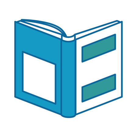 A text book isolated icon vector illustration design