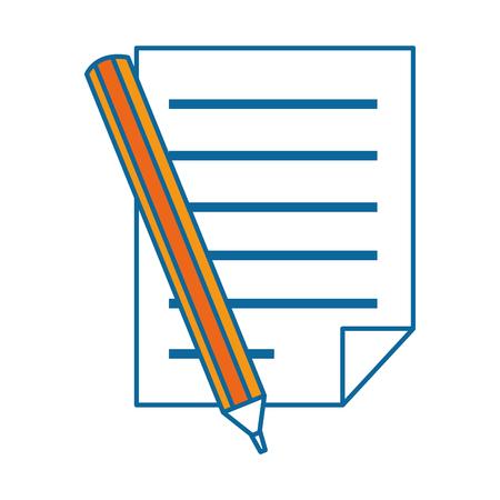 papieren document met potlood vector illustratie ontwerp Stock Illustratie