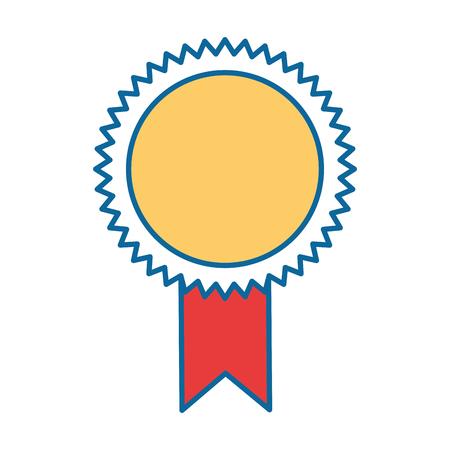 シールディプロマ隔離アイコンベクトルイラストデザイン  イラスト・ベクター素材