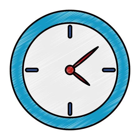 Time clock isolated icon vector illustration design. 版權商用圖片 - 96326733
