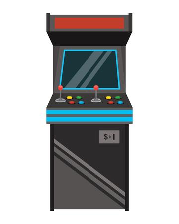 vintage arcade game machine with joysticks and buttons vector illustration Reklamní fotografie - 96337674