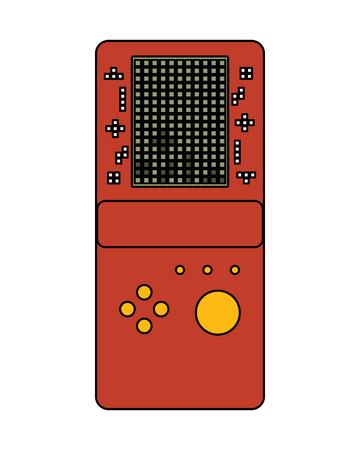 portable game console retro game tetris vector illustration