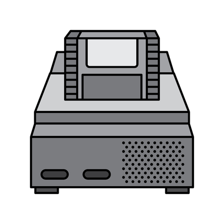 retro video console game and cassette vector illustration
