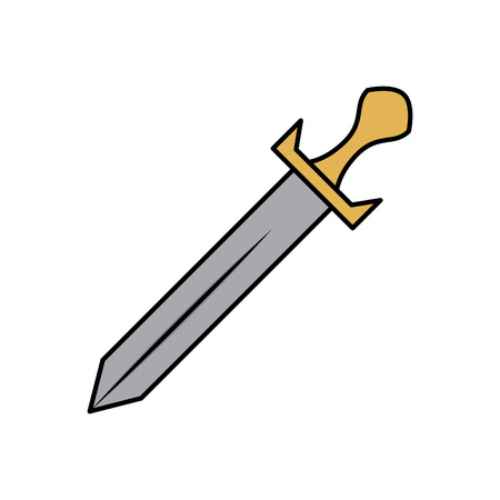 sword vintage vector illustration