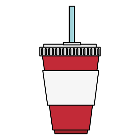 cup soda drink isolated icon vector illustration design Imagens - 96339260