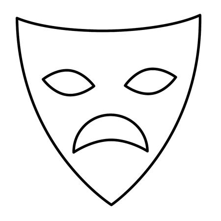 シアターマスク隔離アイコンベクトルイラストデザイン