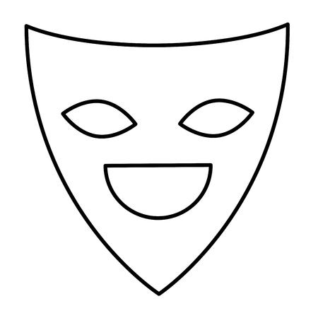 theater mask isolated icon vector illustration design 일러스트
