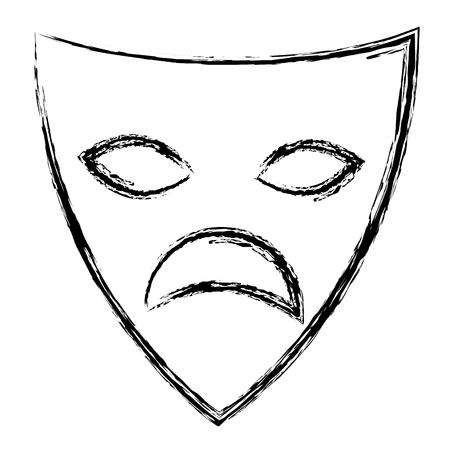 theater mask isolated icon vector illustration design Stok Fotoğraf - 96348201