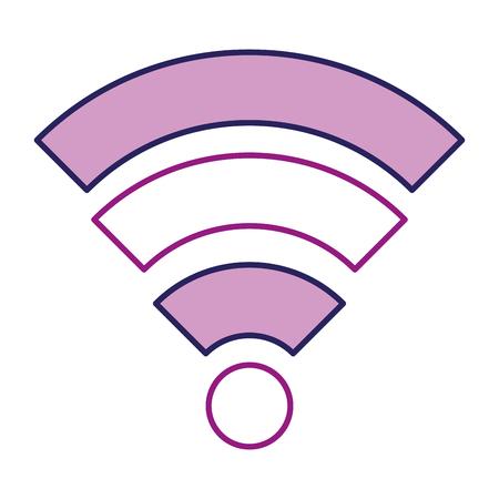 wifi signal isolated icon vector illustration design Stock Illustration - 96354773