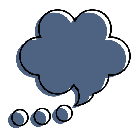 A speech bubble isolated icon vector illustration design Ilustrace