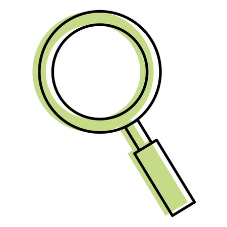 A magnifying glass isolated icon vector illustration design