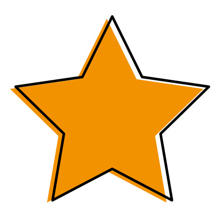 A favorite star isolated icon vector illustration design Ilustrace