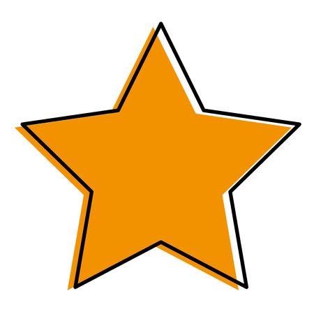 A favorite star isolated icon vector illustration design Illusztráció