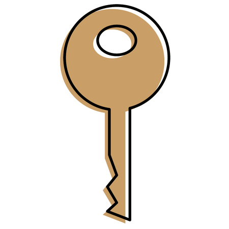 A key security isolated icon vector illustration design