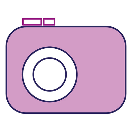 A photographic camera isolated icon vector illustration design