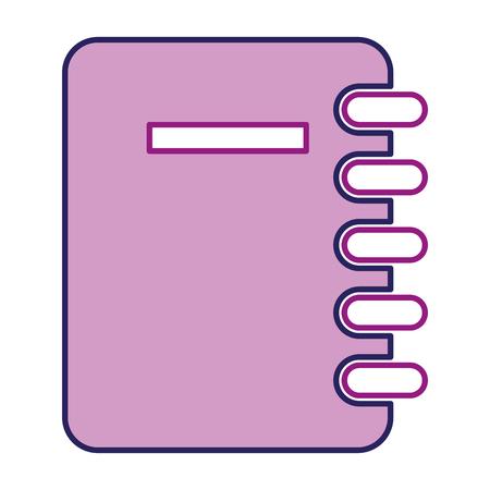 notebook school isolated icon vector illustration design Stock Illustration - 96354797