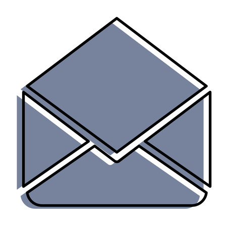 A mail envelope isolated icon vector illustration design Illustration
